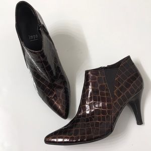 IMPO 'Thelma' Croc Embellished Ankle Boots